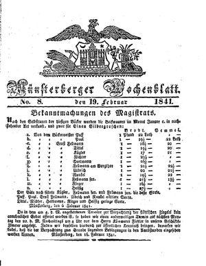 Münsterberger Wochenblatt vom 19.02.1841
