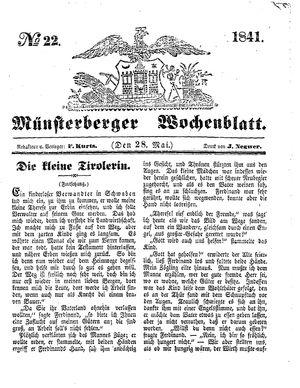 Münsterberger Wochenblatt vom 28.05.1841