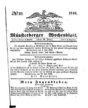 Münsterberger Wochenblatt vom 16.07.1841