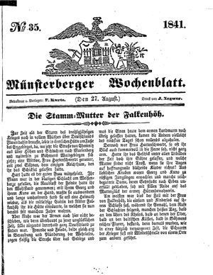 Münsterberger Wochenblatt vom 27.08.1841