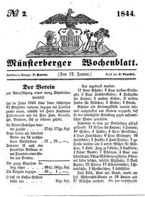 Münsterberger Wochenblatt vom 12.01.1844