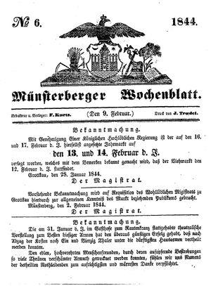 Münsterberger Wochenblatt vom 09.02.1844