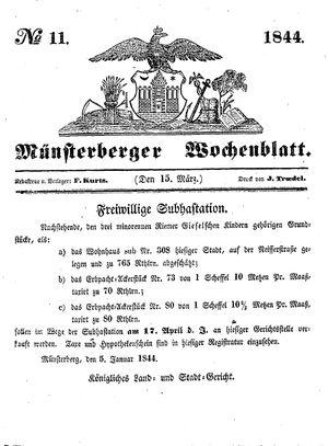 Münsterberger Wochenblatt vom 15.03.1844