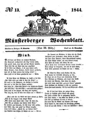 Münsterberger Wochenblatt vom 29.03.1844