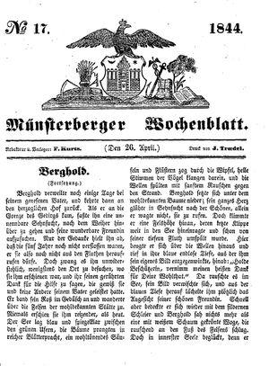 Münsterberger Wochenblatt vom 26.04.1844