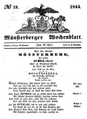 Münsterberger Wochenblatt vom 10.05.1844