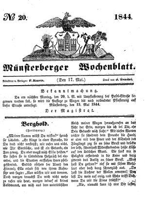 Münsterberger Wochenblatt vom 17.05.1844