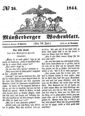 Münsterberger Wochenblatt vom 14.06.1844