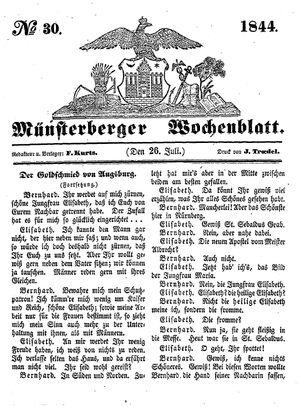 Münsterberger Wochenblatt vom 26.07.1844