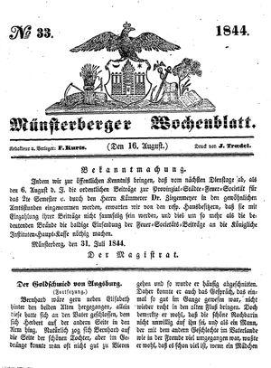 Münsterberger Wochenblatt vom 16.08.1844