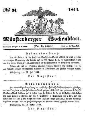 Münsterberger Wochenblatt vom 23.08.1844