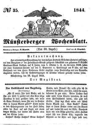 Münsterberger Wochenblatt vom 30.08.1844
