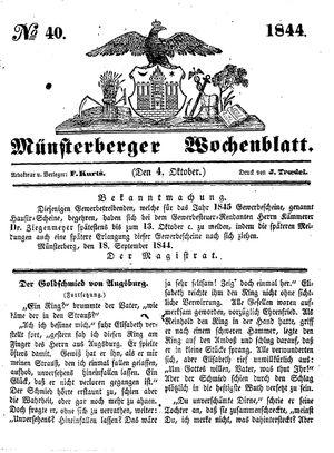 Münsterberger Wochenblatt vom 04.10.1844