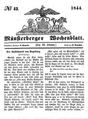 Münsterberger Wochenblatt vom 18.10.1844