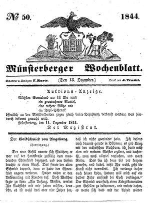 Münsterberger Wochenblatt vom 13.12.1844
