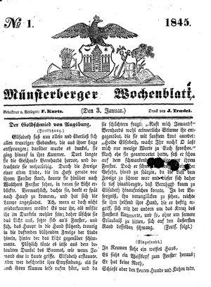 Münsterberger Wochenblatt vom 03.01.1845