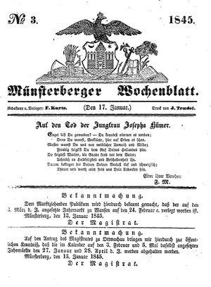 Münsterberger Wochenblatt vom 17.01.1845