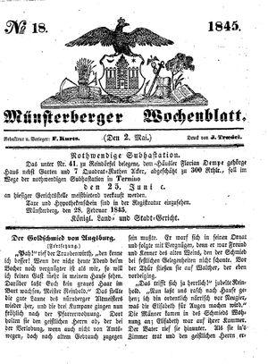 Münsterberger Wochenblatt vom 02.05.1845