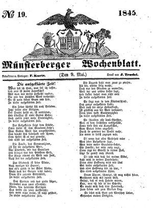 Münsterberger Wochenblatt on May 9, 1845