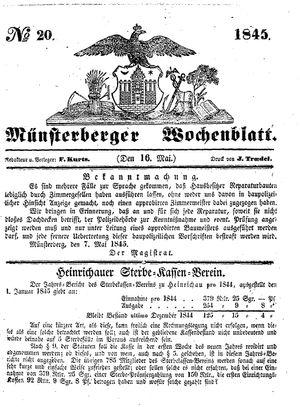 Münsterberger Wochenblatt vom 16.05.1845