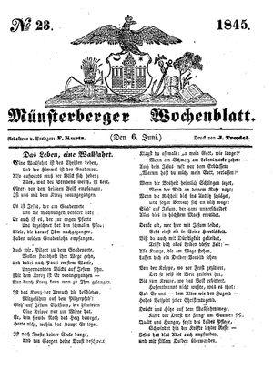 Münsterberger Wochenblatt vom 06.06.1845