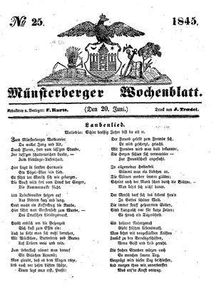 Münsterberger Wochenblatt on Jun 20, 1845