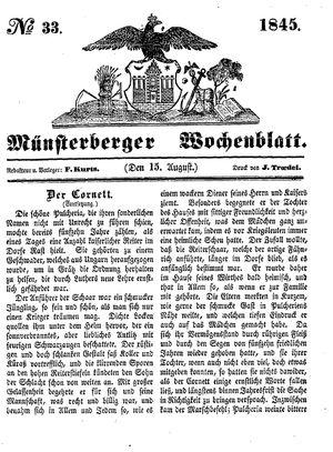 Münsterberger Wochenblatt vom 15.08.1845