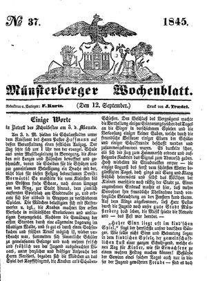 Münsterberger Wochenblatt vom 12.09.1845