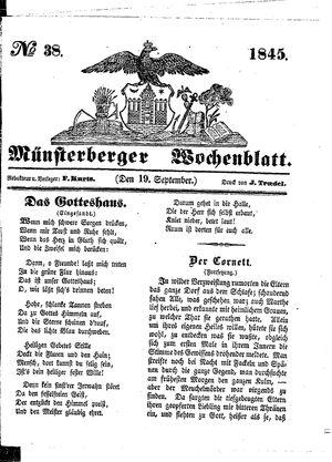 Münsterberger Wochenblatt vom 19.09.1845