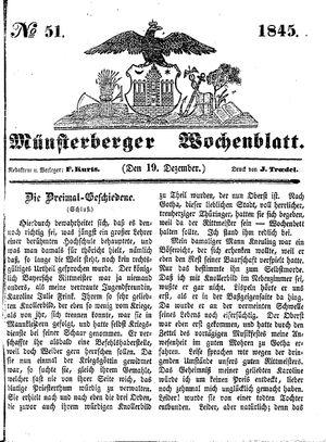 Münsterberger Wochenblatt vom 19.12.1845