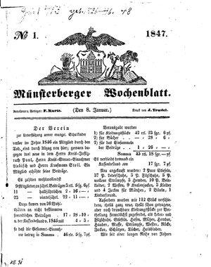 Münsterberger Wochenblatt vom 08.01.1847
