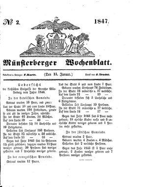 Münsterberger Wochenblatt vom 15.01.1847
