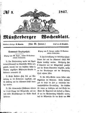 Münsterberger Wochenblatt vom 22.01.1847