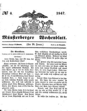 Münsterberger Wochenblatt vom 29.01.1847