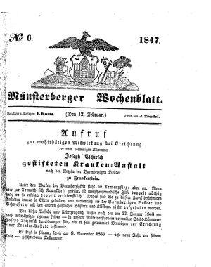 Münsterberger Wochenblatt vom 12.02.1847