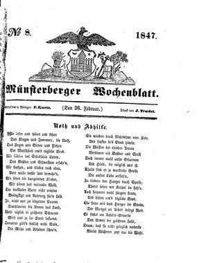 Münsterberger Wochenblatt vom 26.02.1847