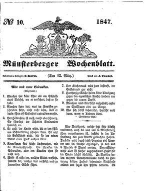 Münsterberger Wochenblatt vom 12.03.1847