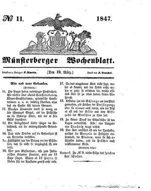 Münsterberger Wochenblatt vom 19.03.1847