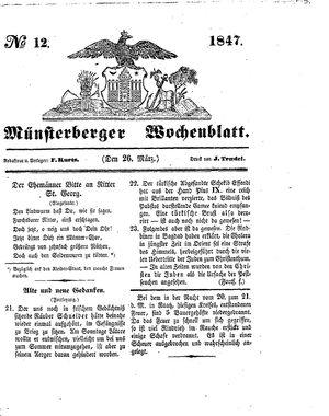 Münsterberger Wochenblatt vom 26.03.1847