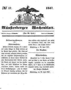 Münsterberger Wochenblatt vom 30.04.1847