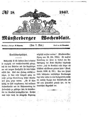 Münsterberger Wochenblatt vom 07.05.1847