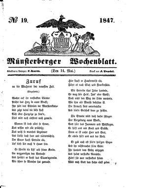 Münsterberger Wochenblatt vom 14.05.1847