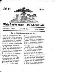Münsterberger Wochenblatt (28.05.1847)