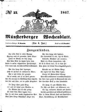 Münsterberger Wochenblatt vom 04.06.1847