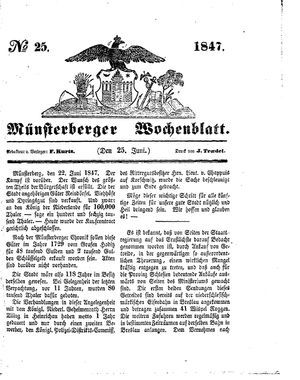 Münsterberger Wochenblatt vom 25.06.1847