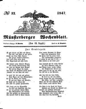 Münsterberger Wochenblatt vom 13.08.1847