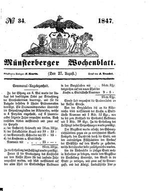 Münsterberger Wochenblatt vom 27.08.1847