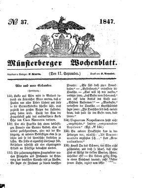 Münsterberger Wochenblatt vom 17.09.1847