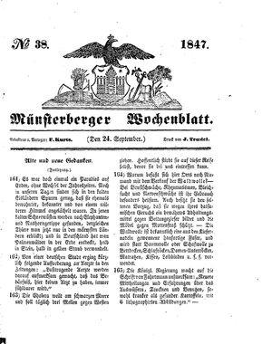 Münsterberger Wochenblatt vom 24.09.1847