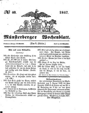 Münsterberger Wochenblatt vom 08.10.1847
